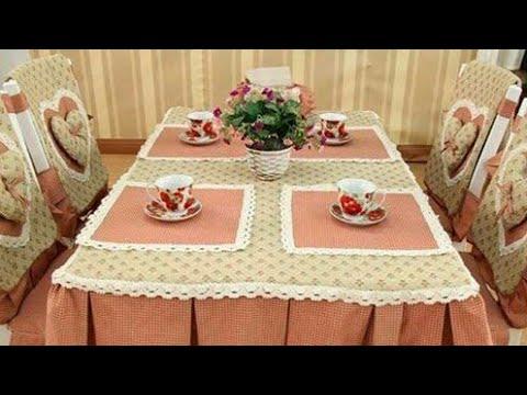 صورة مفارش طاولات مستطيلة , اكبر موسوعه من مفارش طاولات السفرة المستطيله