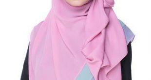صور لف حجاب للوجه الطويل , لفات حجاب تبرز جمال الوجه الطويل والنحيف