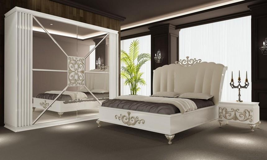 صورة غرف نوم مودرن كاملة بالدولاب , احدث التصميمات العصرية لغرف النوم