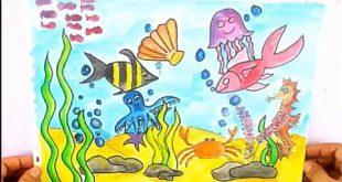 صورة رسومات فنية عن قاع البحر , اروع الرسومات الفنية لقاع البحر