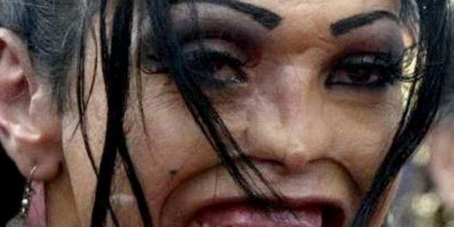 صورة صور فتيات غير جميلات , صور مركبة مضحكه للبنات