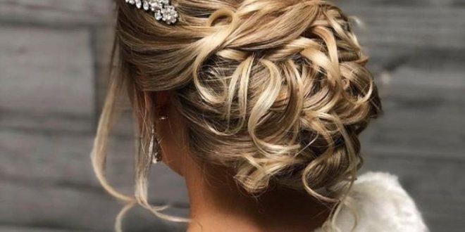 صورة تسريحات شعر رفع للمناسبات , ارقي تسريحات شعر لحفلات الزفاف والسهره