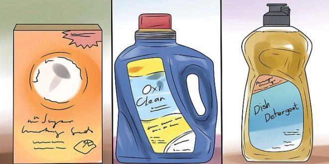 صورة ازالة البقع الصفراء من الملابس الملونة , طرق منزليه لازاله اصفرار الملابس