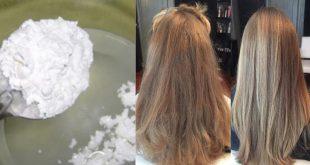 صورة خلطة النشا لفرد الشعر , طله بشعر خيوط الحرير