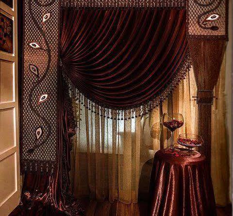 صورة موديلات ستائر فخمه للمجالس , لمسه سحر لمنزلك 1548 8