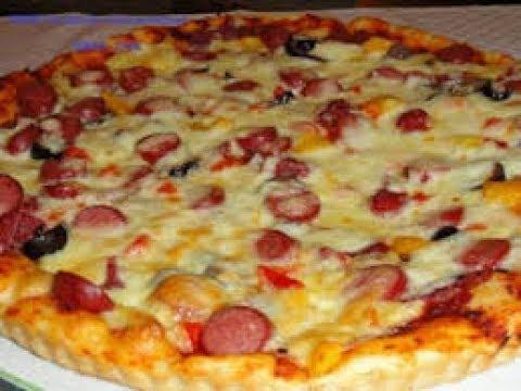 صورة طريقة عمل البيتزا بالسوسيس , وداعا لدليفرى البيتزا