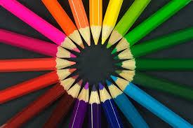 صورة لون بحرف الياء , اشكال عديد من الالوان