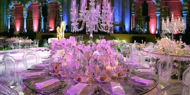 صورة تنسيق طاولات زواج , تميزي بفرش سفرتك معانا