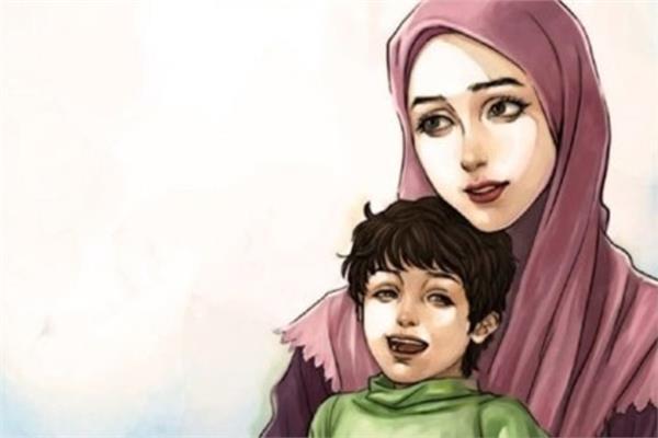صورة موضوع تعبير عن فضل الام , الام منبع الحنان