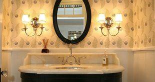 صورة مغاسل ضيوف مودرن , الحمام بشكل فخم وجهه لبيتك