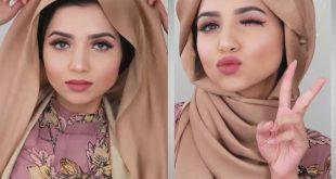 صورة كيفية لف الحجاب , لفات طرح جديدة