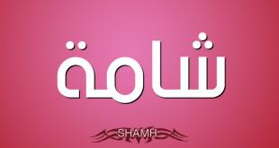 معنى اسم شامة , هل يجوز تسمية شامة فى الاسلام