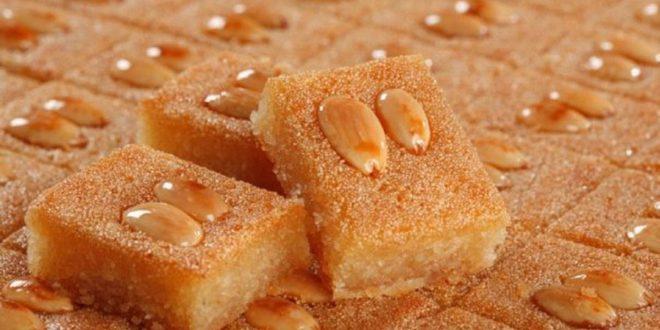 صورة اطباق حلويات سهله وسريعه بالصور، طريقة عمل البسبوسة