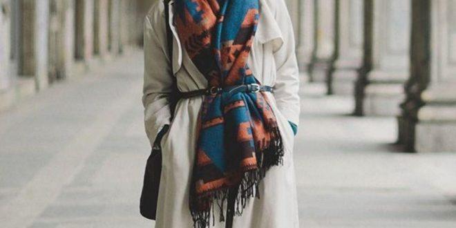 صورة احلى لفات شال ، صور للفات مختلفة لشال واحد