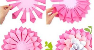 صورة طريقة عمل الورد بالورق ،طريقة بسيطة وغير مكلفة