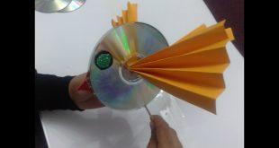 صورة اعمال يدوية فنية بسيطة ، أزاى أحول CDالتالف الى قطعة فنية