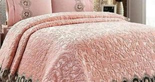 صورة مفارش غرف نوم تركية ، مطرزة بأشكال رائعة
